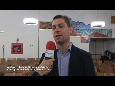 IN CONSIGLIO AD ANDORA LA RELAZIONE DI FINE MANDATO DI DANIELE MARTINO