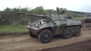 Canhão 90mm CC Engesa EE-9 Cascavel (FullHD) Exército Brasileiro