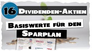 16 Basis Dividenden Aktien für den Sparplan