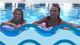 GYMDUO Barča&Verča | Gymnastická challenge v bazénu