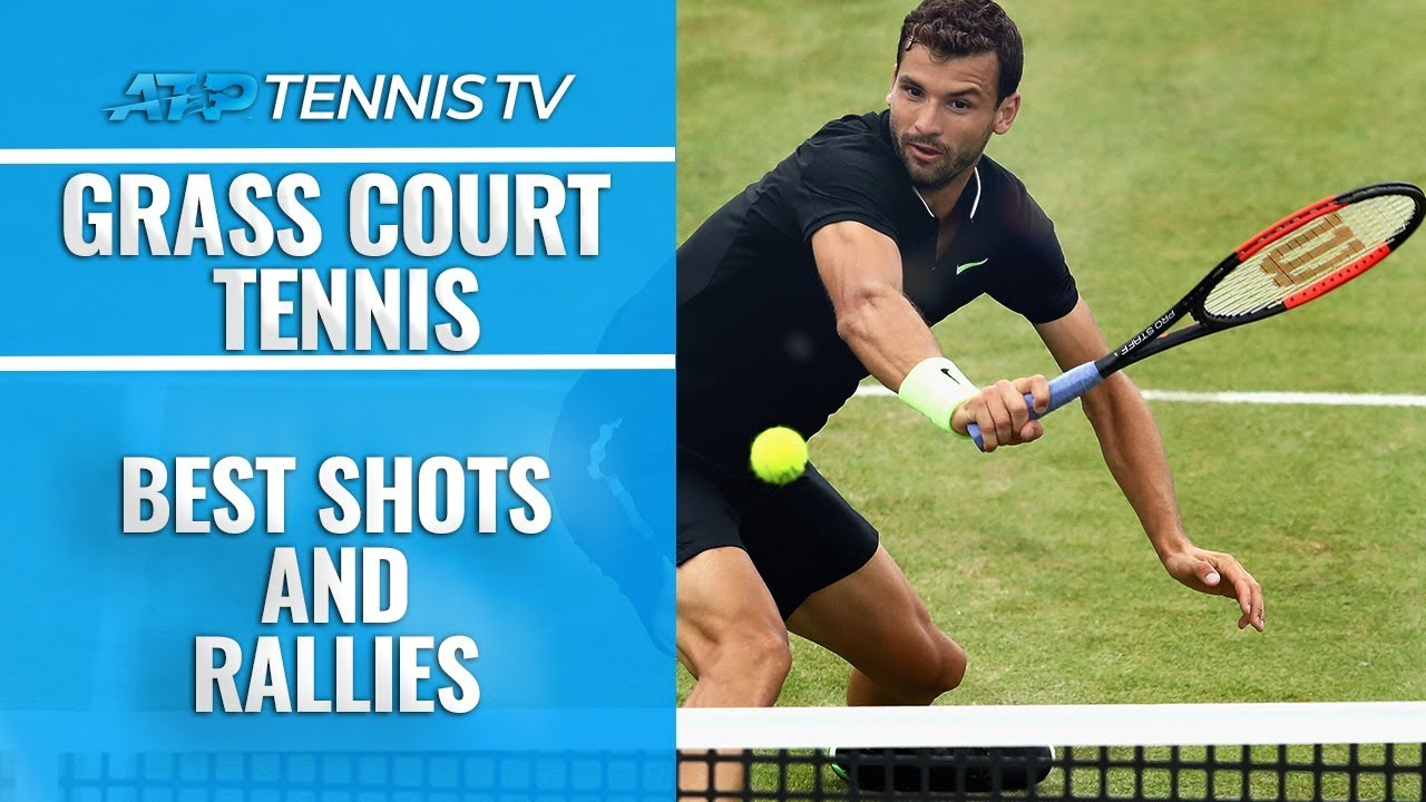 Обзор ярких ударов и розыгрышей на травяных кортах турниров ATP (ВИДЕО)