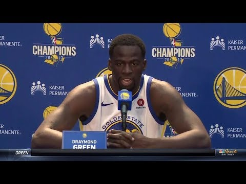 Draymond Green On Kevin Durant' Tweets & Warriors 2018 Season | Warriors Media Day | Sep 22, 2017
