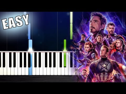 Avengers: Endgame- Portals - EASY Piano Tutorial by PlutaX