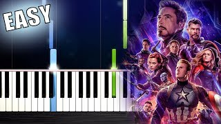 """Video thumbnail of """"Avengers: Endgame- Portals - EASY Piano Tutorial by PlutaX"""""""