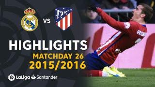 Highlights Real Madrid vs Atlético de Madrid (0-1) Matchday 26 2015/2016
