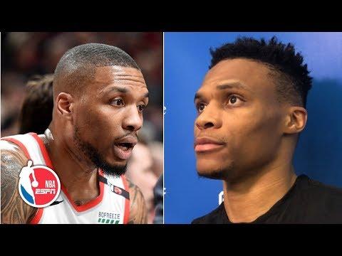'I just hoop,' Russell Westbrook plays off trash talk with Damian Lillard | 2019 NBA Playoffs