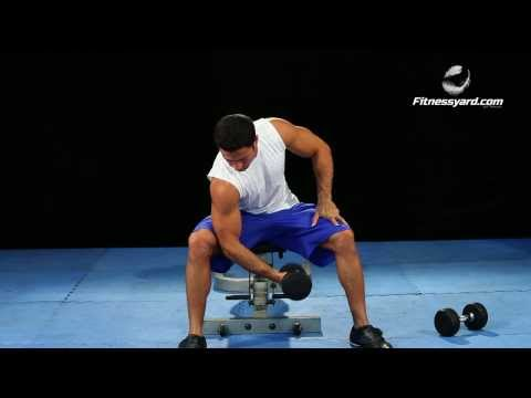 Biceps Exercises -- Dumbbell Concentration Curl
