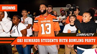 Get 2 School Bowling & Pizza Party with Odell Beckham Jr. | Cleveland Browns