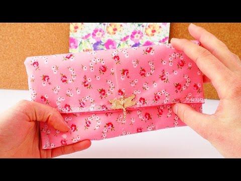 DIY Portemonnaie nähen | Etui aus Stoff, kleine Taschen für Kosmetik & Organizer |  Geldbörse nähen