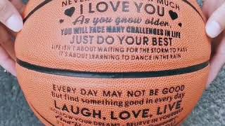 Basketball Gift For Your Son | Engraved Basketball | Mom To Son Basketball | Birthday Gift For Son