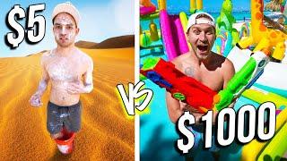 $5 VS $1,000 WATER PARKS! *Budget Challenge*