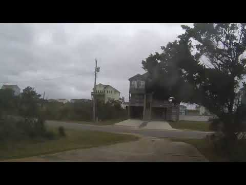 Outer Banks Mid November Coastal Storm - Vehicle Cam Part 1