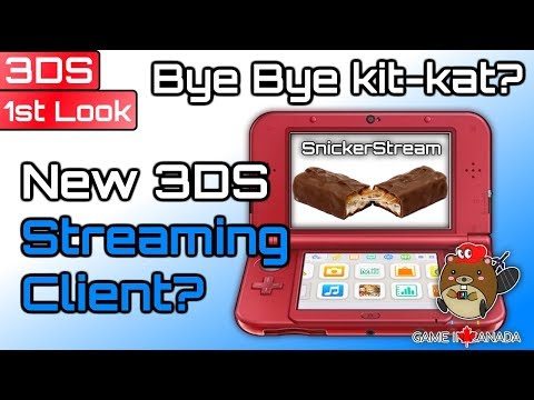 """Snickerstream """"A Completely New Streaming Client"""" - 3DS: First Look - Can it Compete With Kit-kat?"""