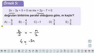 Eğitim Vadisi 11.Sınıf Matematik 7.Föy Doğrunun Analitik İncelenmesi 1 Konu Anlatım Videoları