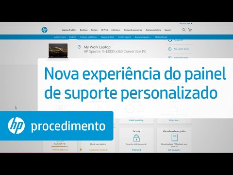 Experiência de painel de suporte personalizado da HP Support