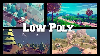 How To Use Color Palettes With Low Poly Models In Unity And Blender 2.8?