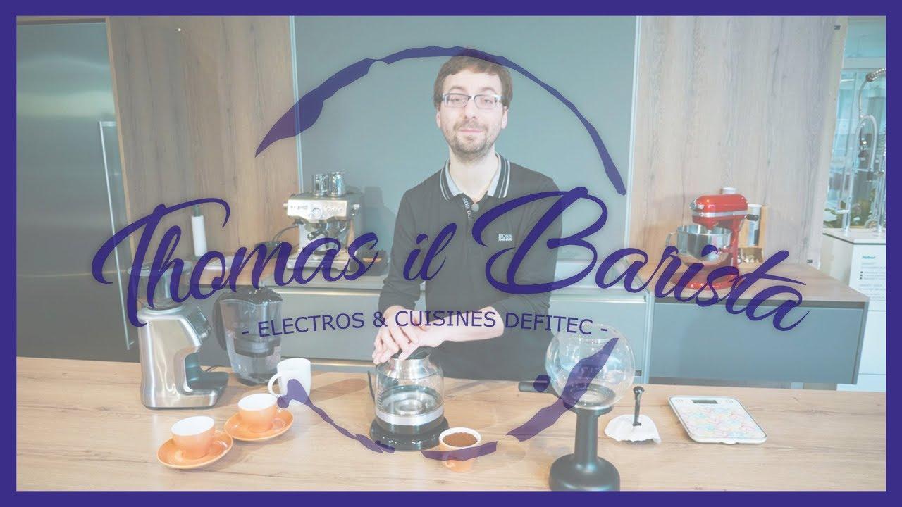 Cafetière à Dépression Kitchenaid Artisan 5KCM0812 - Thomas Il Barista