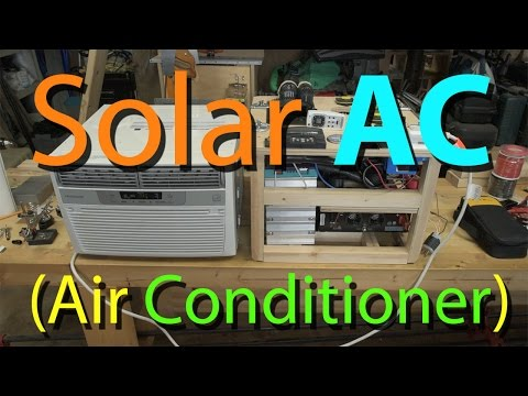 Solar Air Conditioner with Xantrex SW2000 Review (Solar Generator V3)