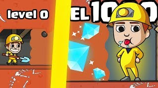 IS THIS THE MOST EXPENSIVE MINE DRILL EVOLUTION UPGRADE? (1000 DIAMOND LEVEL)l Miner Tycoon New Game