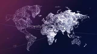 world map stock video | business video background | world map animation | world map background video