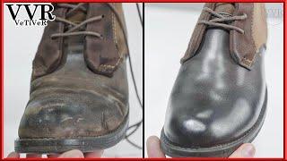 [ASMR] 'Clean & Restore' Levi's Vintage Suede Boots Repair -4k 👢🤎🌙😴💤🛌 Shampoo insomnia satisfying
