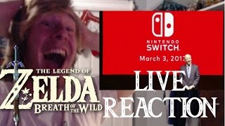 LIVE REACTION - Zelda Breath of the Wild release date MARCH 3RD trailer!!