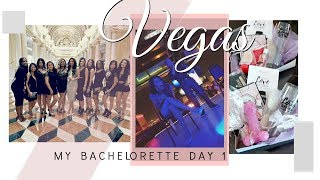 BACHELORETTE PARTY IN VEGAS! - Surprising The Girls With Gifts!