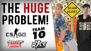 Jake Paul & Ricegum Promote Loot Box Scam To Kids | CSGO Gambling Site CopyCat