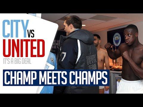 EXCLUSIVE DRESSING ROOM CELEBRATIONS   MENDY v USYK   Man City 3-1 Man Utd