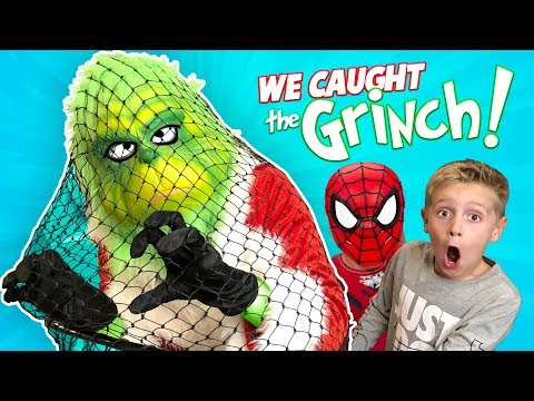 GRINCH MASTER Caught! (Board Game Challenge Plan + Spider-Man Grinch) | KIDCITY
