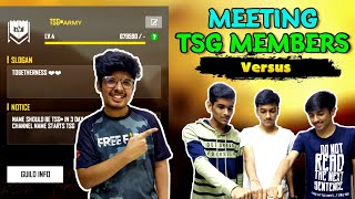 FACE MEETUP WITH TSG MEMBERS || LIVE REACTION VERSUS GAMEPLAY || OMG GAMEPLAY EVER || MUST WATCH
