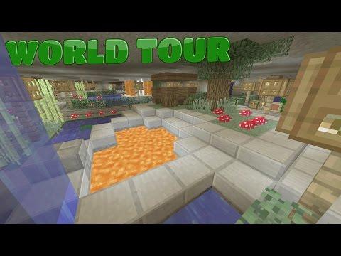 Minecraft: UnderGround Base tour  - смотреть онлайн на Hah Life