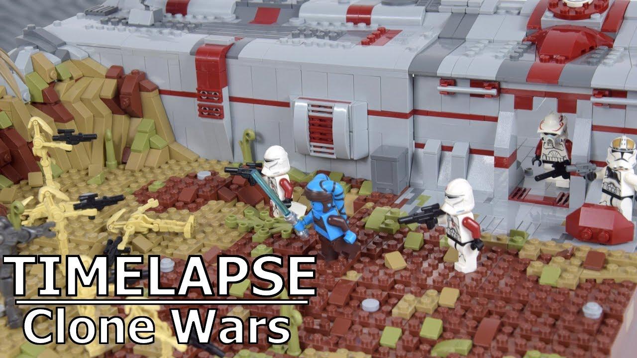 Lego Republic Base on Saleucami (Clone Wars) | Lego Star Wars MOC Speedbuild/Timelapse