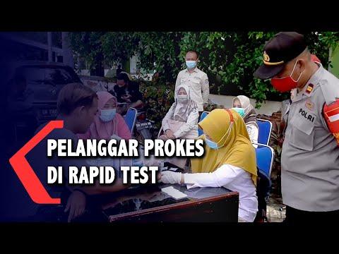 warga pelanggar protokol kesehatan di rapid test satu di antaranya reaktif