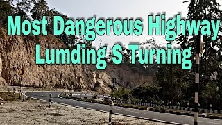 preview picture of video 'Most Dangerous Highway Lumding S Turning    2k18   '