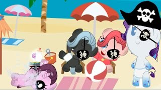 Пиратские наряды пони Карманная пони в мультике игре для детей  My little pony Дружба это чудо