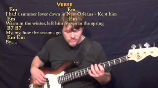 Ex's & Oh's (ELLE KING) Bass Guitar Cover Lesson with Chords/Lyrics
