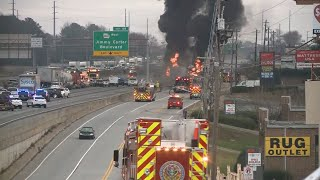 Fuel from interstate fire runs in storm drain, causing more fires: Fire