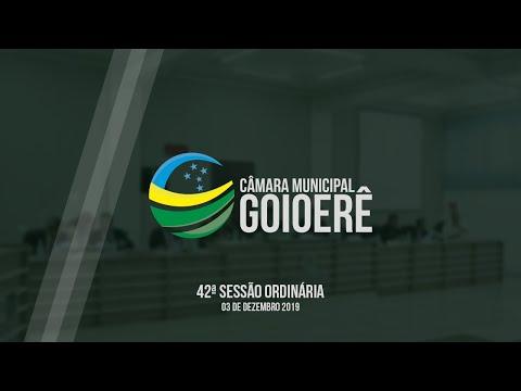 42ª Sessão Ordinária - 2019