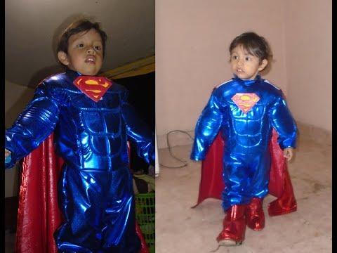 Tutorial Disfraz SUPERMAN MUSCULOSO PARA NIÑOS + PATRONES