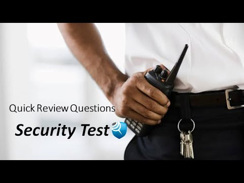 Security Guard Job Practice Test 15 Questions - YouTube