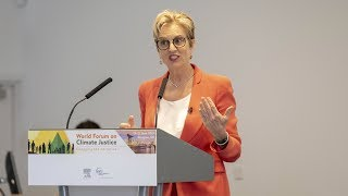 Dr Kerry Kennedy speaks at the World Forum on Climate Justice