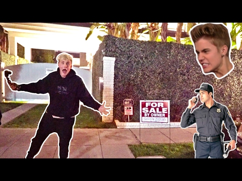 I PUT JUSTIN BIEBERS HOUSE UP FOR SALE (SECURITY CHASED US) Mp3