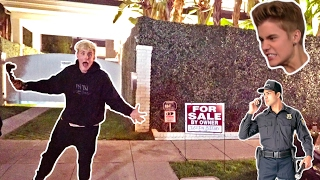 I PUT JUSTIN BIEBERS HOUSE UP FOR SALE SECURITY CHASED US