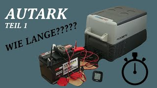 Dometic CF35 Kompressor Kühlbox autark betreiben - Dauertest - Teil 1
