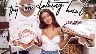 Huge Back To School Try On Clothing Haul 2020