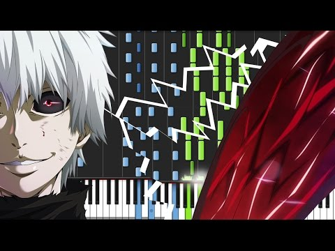 Unravel - Tokyo Ghoul (Opening) [Piano Tutorial] (Synthesia) // Animenz