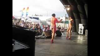 The Cheeky Girls performing ''We Go Together''