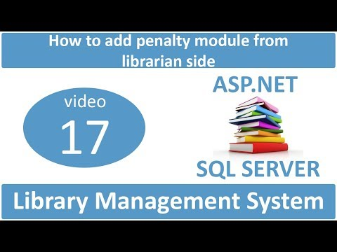 how to add penalty module from librarian side in asp.net LMS