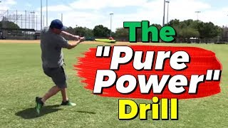 """""""Pure Power"""" Hitting Drill for Stronger Contact and Better Follow Through!"""